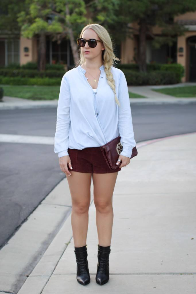 Forever 21 Maroon Suede shorts