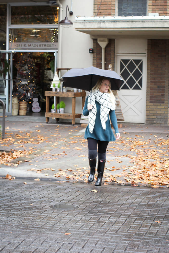 Rainy Day Walk Outfit