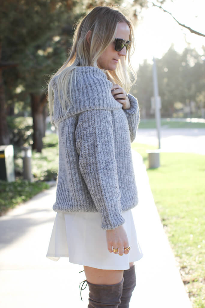 Off the shoulder sweater 1474