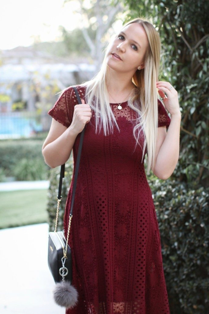 Red Crochet Dress Forever 21_8873
