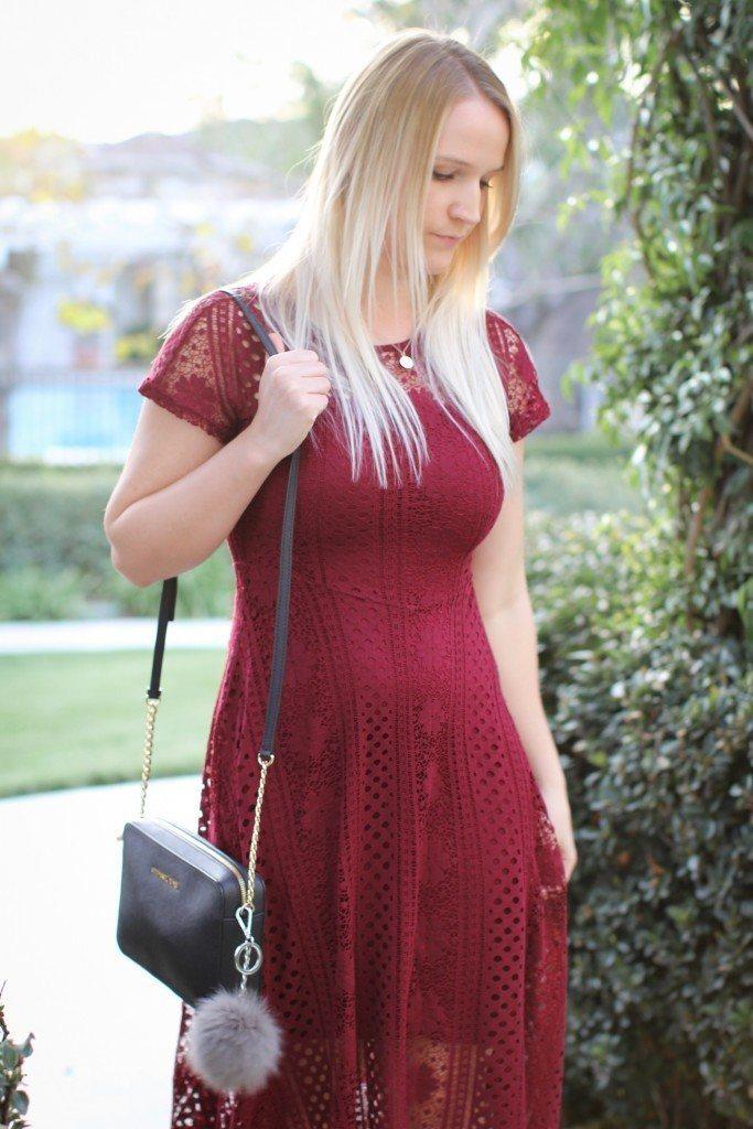 Red Crochet Dress Forever 21_8879