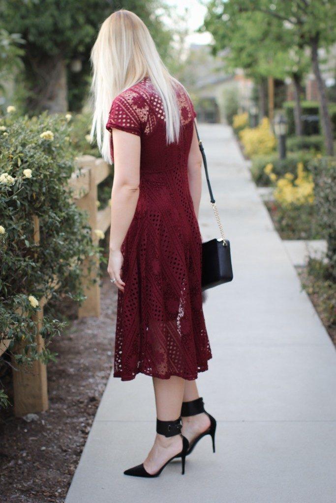 Red Crochet Dress Forever 21_8882