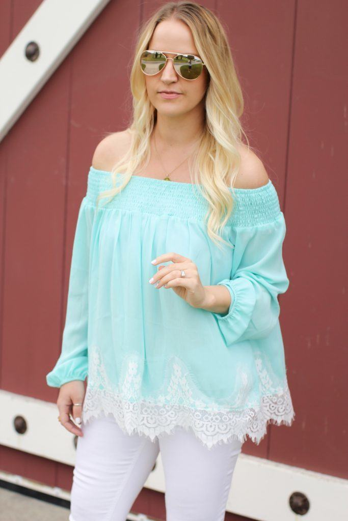 Mint-lace-spring-top