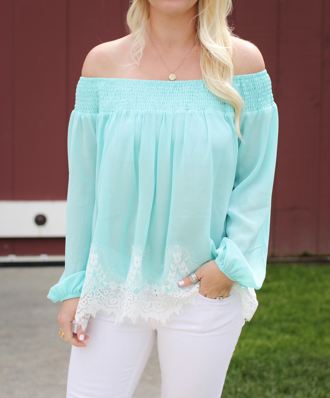 Summer-mint-lace-top