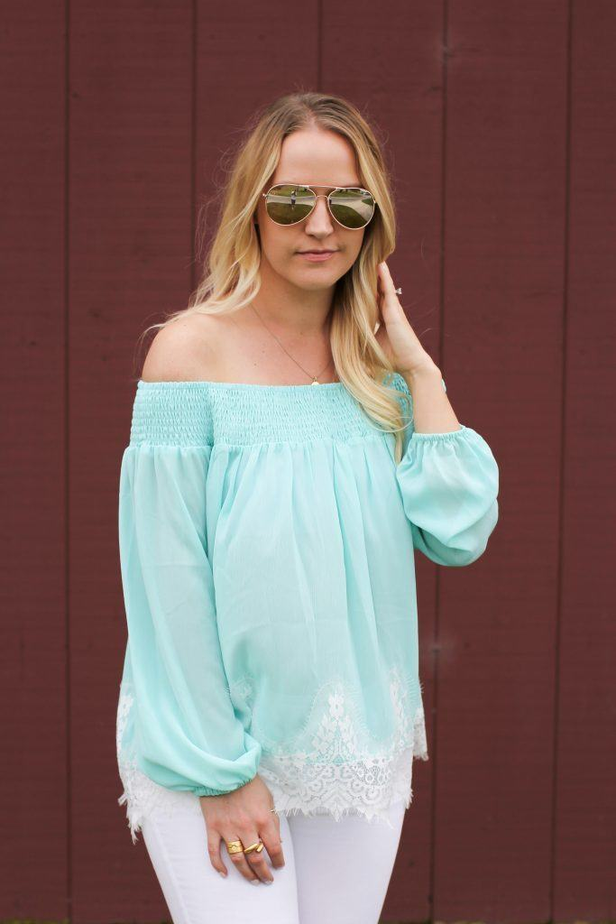 mint-lace-top